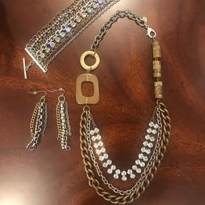 Chico's Jewelry set Necklace, Bracelet & Earrings